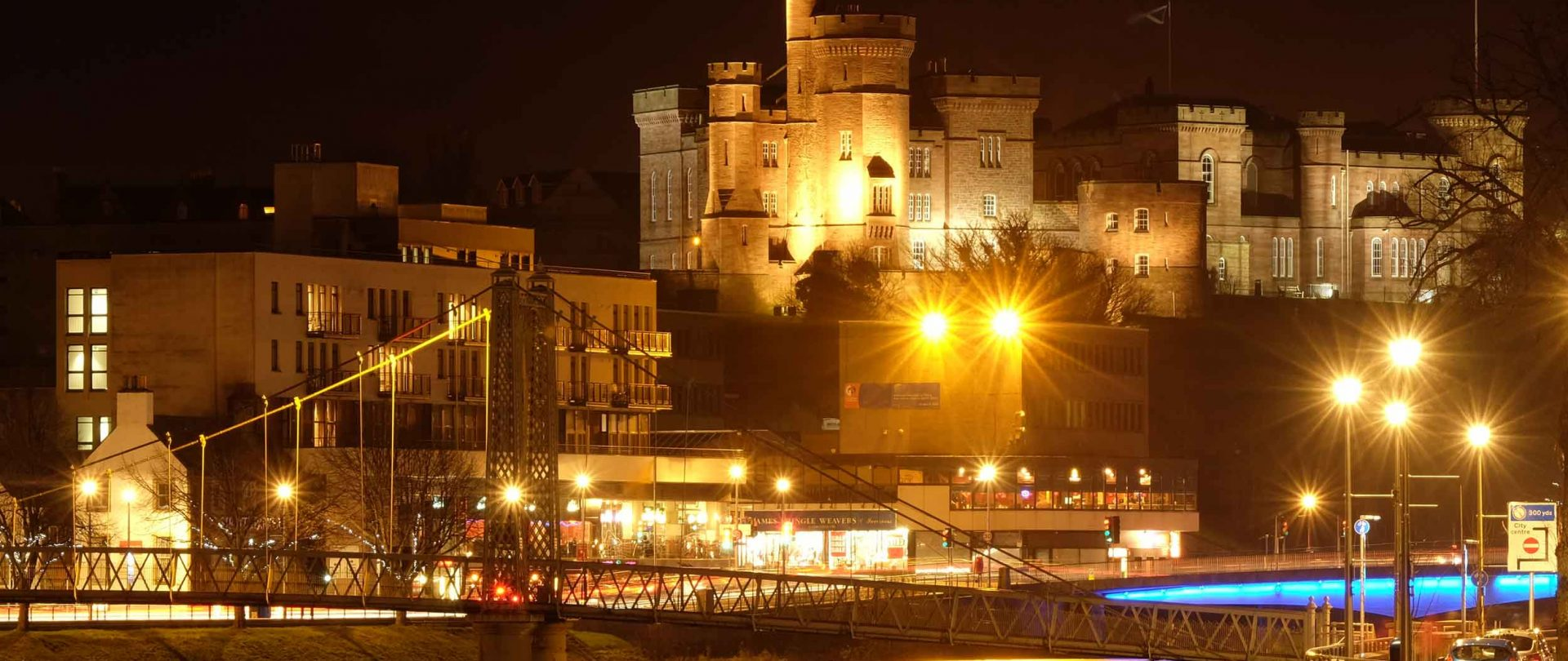 Inverness castle Inverness by night